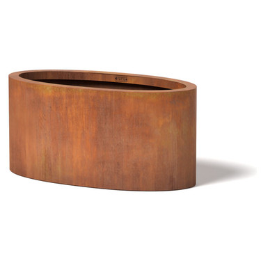 Oval Planter - Material : Corten Steel - Finish : Natural Rust