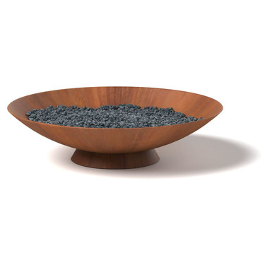 Fire Dish - Material : Mild Steel - Finish : Natural Rust