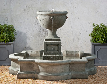 Navonna Fountain - Material : Cast Stone - Finish : Alpine Stone
