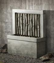 Birches Fountain - Material : Cast Stone - Finish : Alpine Stone