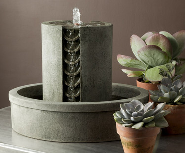 M-Series Coin Fountain - Material : Cast Stone - Finish : Alpine Stone