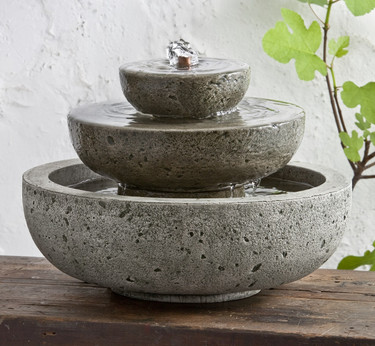 M-Series Platia Fountain - Material : Cast Stone - Finish : Alpine Stone