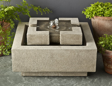 M-Series Escala Fountain - Material : Cast Stone - Finish : Greystone