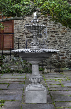 Charleston Fountain(FT-256) - Material : Cast Stone - Finish : Alpine Stone