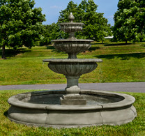 Estate Longvue Fountain(FT-239) - Material : Cast Stone - Finish : Alpine Stone