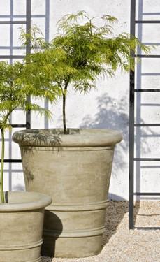 Urbino Planter - Material : Cast Stone - Finish : Verde