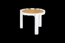 "ALLUX Bistro Table 35.5"" - Material : Aluminum,Teak - Finish : White,Straight Slats"