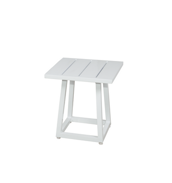 ALLUX Small Side Table - Powder-Coated Aluminum (White)