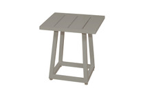 ALLUX Small Side Table - Powder-Coated Aluminum (Taupe)