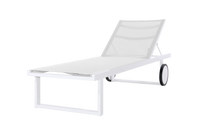 Allux Lounger - Powder-Coated Aluminum (white), Batyline (White)