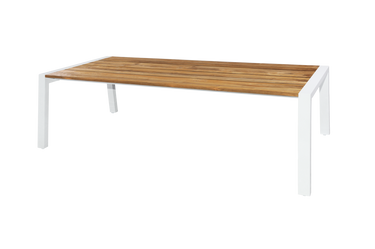 BAIA Dining Table L X W Large Outdoor Teak Dining Table - Teak and aluminium outdoor table