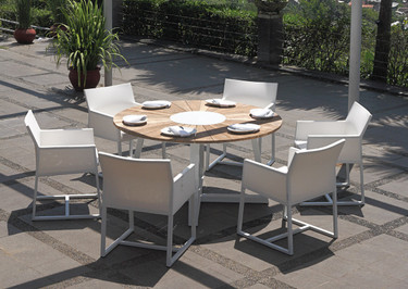 "BAIA Round Table 59"" with Mono Dining Chairs"