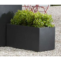 Modular Lite Low Rectangle - Material : Clay Composite - Finish : Onyx Black