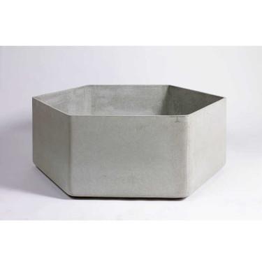 Hexago Container - Material : Fiber Cement - Finish : Grey