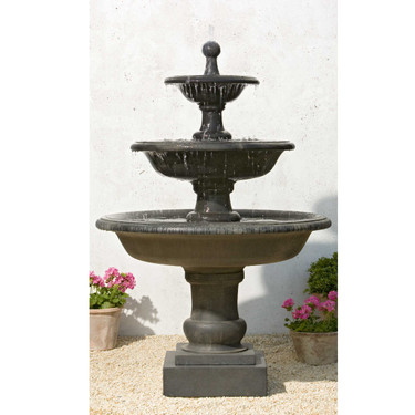 Vicobello Fountain - Material : Cast Stone - Finish : Terra Nera