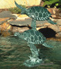 Sea Turtle Fountain - Material : Brass - Finish : Verdigris