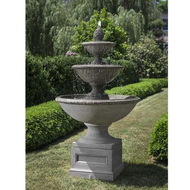 Beauport Fountain - Material : Cast Stone - Finish : Alpine Stone