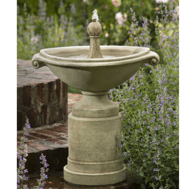 Borghese Fountain - Material : Cast Stone - Finish : Verde