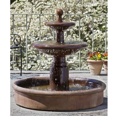 Esplanade Two Tier Fountain (FT-78) - Material : Cast Stone - Finish : Ferro Rustico