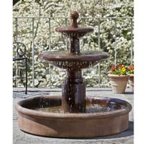 Esplanade Two Tier Fountain (FT-78) - Material : Cast Stone - Finish : Ferro Rustico