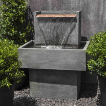 Falling Water I Fountain(FT-286) - Material : Cast Stone - Finish : Alpine Stone
