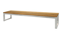 """OKO Bench 102.5"""" - Stainless Steel, Recycled Teak"""