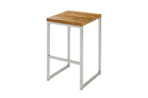 OKO High Stool - Stainless Steel, Recycled Teak