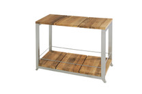 OKO Trolley - Stainless Steel (Hairline Finish), Recycled Teak (Brushed)