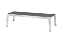 "BAIA Bench 57"" - stainless steel (hairline finish), high pressure laminate (slate)"