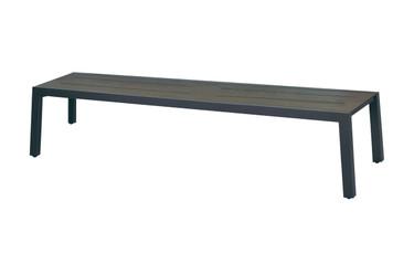 "BAIA Bench 80.5"" - Powder-Coated Aluminum (anthracite), High Pressure Laminate (slate)"
