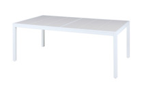 "ALLUX 86.5"" x 39.5"" Dining Table - Powder-Coat Aluminum (white), High Pressure Laminate"