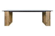 AIKO Dining Table (Residential Style) - Drift look teak legs (original), High Pressure Laminate Top