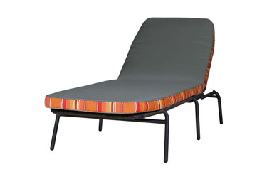 BONO Stacking Lounger -  Powder-Coated Aluminum (black),  Bono Cushion (Equinox)