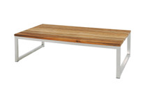 OKO Rectangular Table - Stainless Steel, Recycled Teak