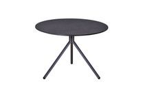BONO Low Table - Powder-Coated Aluminum (black), HPL top (slate)