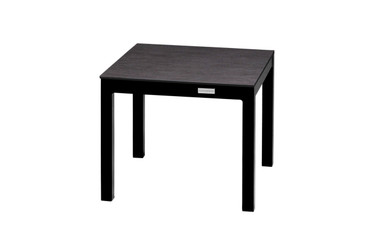 EKKA Medium End Table - Powder-Coated Aluminum (black), High Pressure Laminate (HPL - slate)