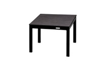 EKKA Small End Table - Powder-Coated Aluminum (black), High Pressure Laminate (HPL - slate)
