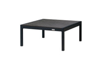 JAYDU End Table - Powder-Coated Aluminum (black), High Pressure Laminate (HPL) Top (slate)
