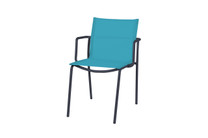 MANDA Chair Sling - Powder-Coated Aluminum (black), Batyline Standard (Aruba)