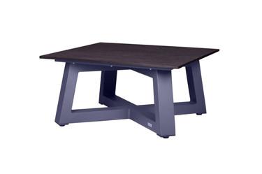 MONO Square Table - Powder-Coated Aluminum (anthracite), High Pressure Laminate (HPL - slate)