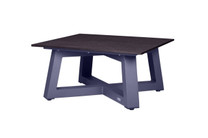MONO Square Table - Powder-Coated Aluminum (anthracite), High Pressure Laminate (HPL - slate)