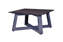 MONO Medium Square Table - Powder-Coated Aluminum (anthracite), High Pressure Laminate (HPL - slate)