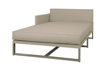 MONO Right Chaise - Powder-Coated Aluminum (taupe), Twitchell Leisuretex (taupe) Sunbrella Canvas (taupe)