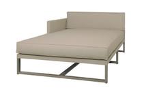 MONO Right Chaise - Powder-Coated Aluminum (taupe), Twitchell Leisuretex (taupe) Sunbrella Canvas (taupe)