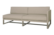 MONO Sectional Left Hand - Powder-Coated Aluminum (taupe), Twitchell Leisuretex (taupe) Sunbrella Canvas (taupe)
