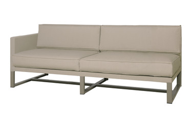 MONO Sectional Right Hand - Powder-Coated Aluminum (taupe), Twitchell Leisuretex (taupe) Sunbrella Canvas (taupe)