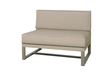 MONO Sectional Seat   Powder Coated Aluminum (taupe), Twitchell Leisuretex  (taupe