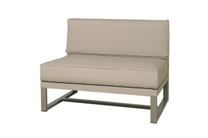 MONO Sectional Seat - Powder-Coated Aluminum (taupe), Twitchell Leisuretex (taupe) Sunbrella Canvas (taupe)