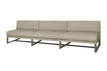MONO Sectional Seat - Powder-Coated Aluminum (taupe), Twitchell Leisuretex (taupe) Sunbrella Canvas (taupe)