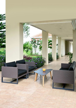 MONO Sofa 2-Seater and 1-Seater Armchairs with KAAT coffee table